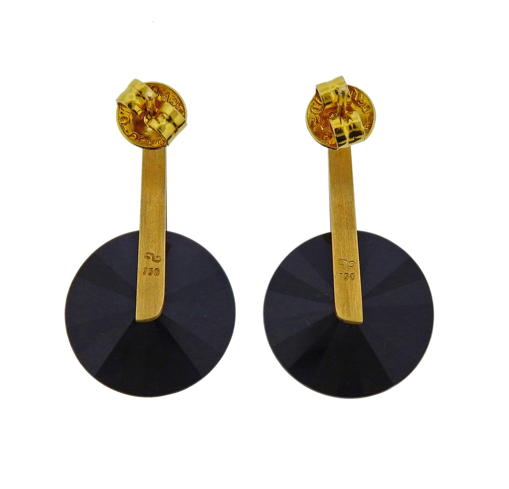 thumbnail image of Antonio Bernardo Gemstone Gold Earrings