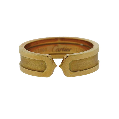 Cartier C 18k Gold Cuff Band Ring