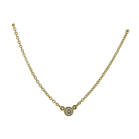 Tiffany & Co Peretti Diamonds by the Yard 18k Gold Necklace