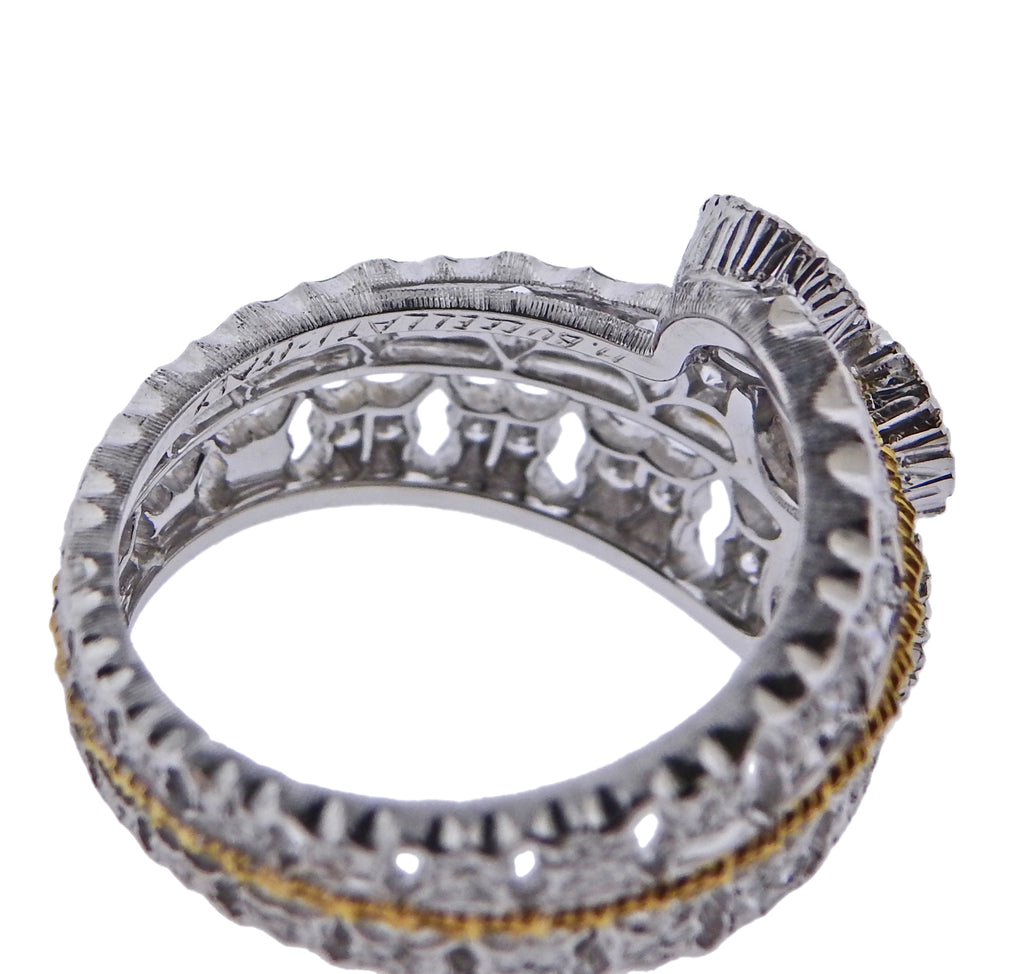 thumbnail image of Mario Buccellati Diamond White Yellow Gold Ring