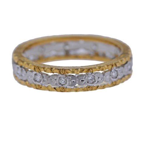 image of Mario Buccellati Diamond Gold Wedding Band Ring