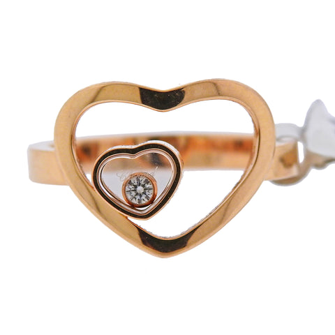 image of Chopard Happy Heart Diamond 18k Gold Ring