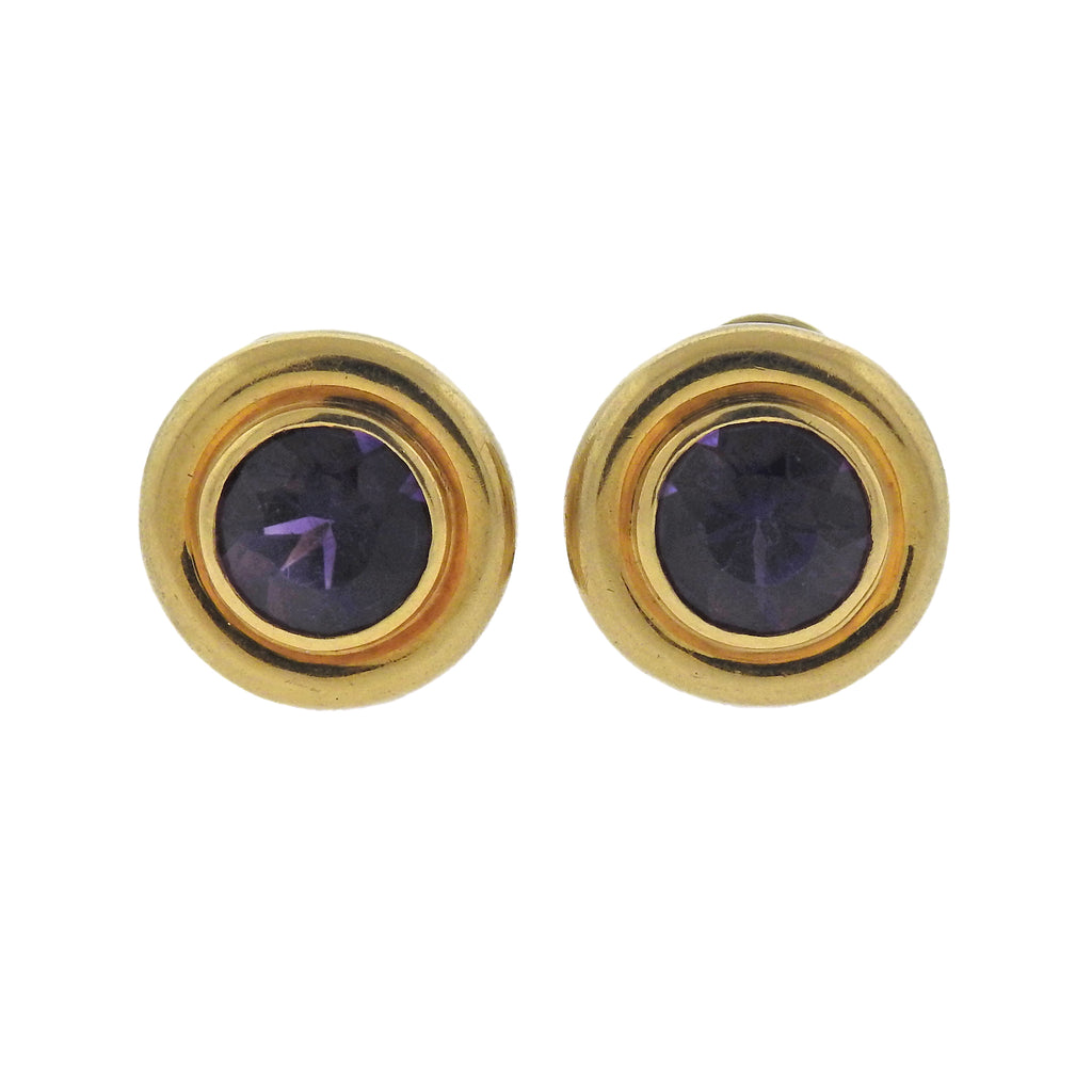 thumbnail image of Tiffany & Co Paloma Picasso Amethyst Gold Earrings