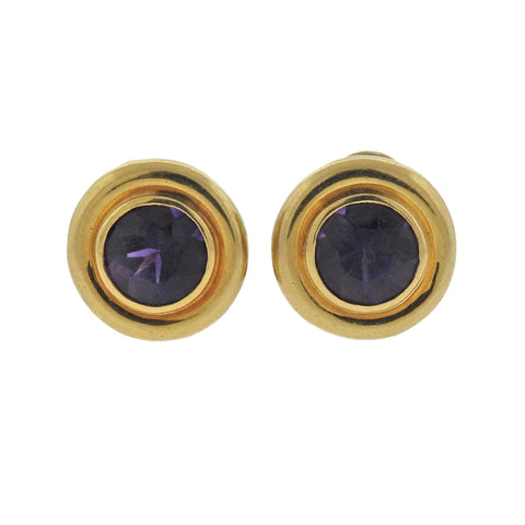 image of Tiffany & Co Paloma Picasso Amethyst Gold Earrings