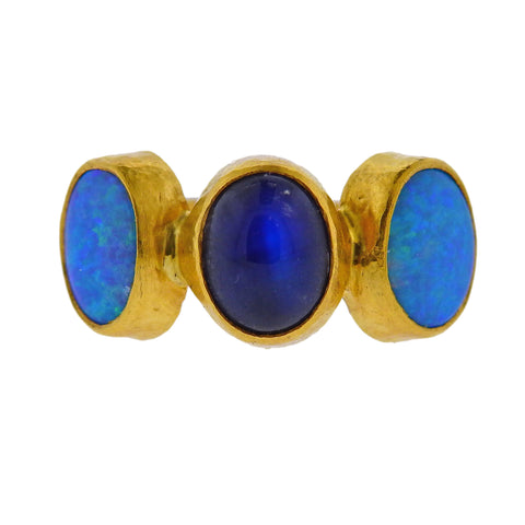 image of Gurhan Amulet Hue Gold Moonstone Opal Ring