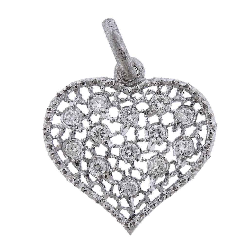 thumbnail image of Mario Buccellati Diamond Gold Heart Pendant