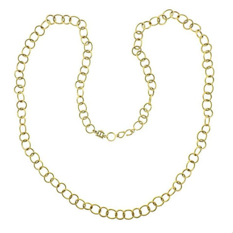 Temple St. Clair Arno Gold Link Chain Necklace