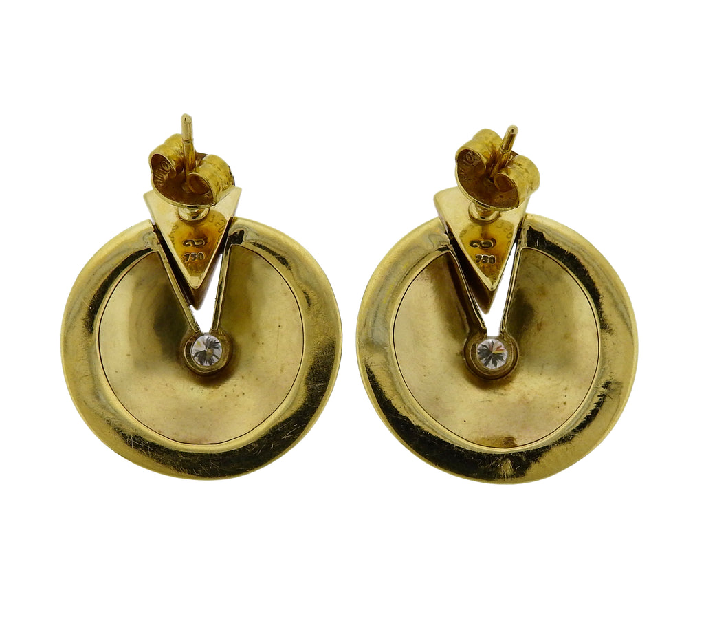 thumbnail image of Antonio Bernardo Gold Diamond Earrings