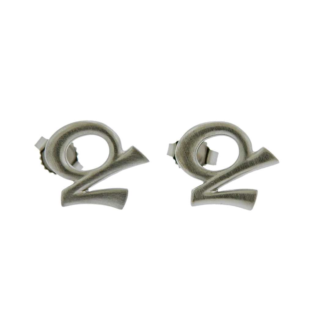 thumbnail image of Gubelin Gold Capricorn Zodiac Sign Stud Earrings