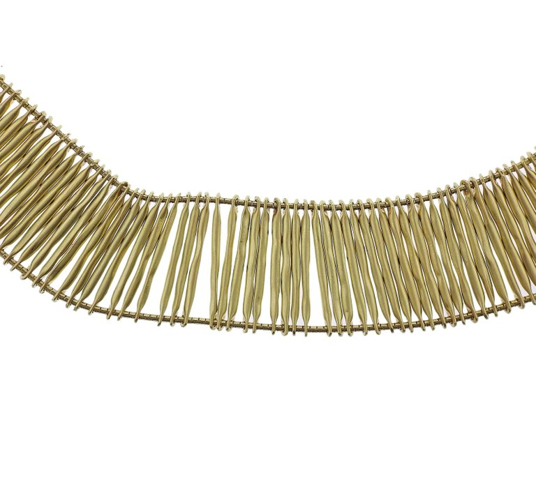 thumbnail image of H. Stern Filaments Diamond Gold Necklace
