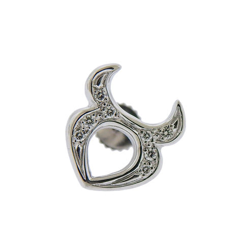 image of Gubelin Gold Diamond Taurus Zodiac Sign Single Earring