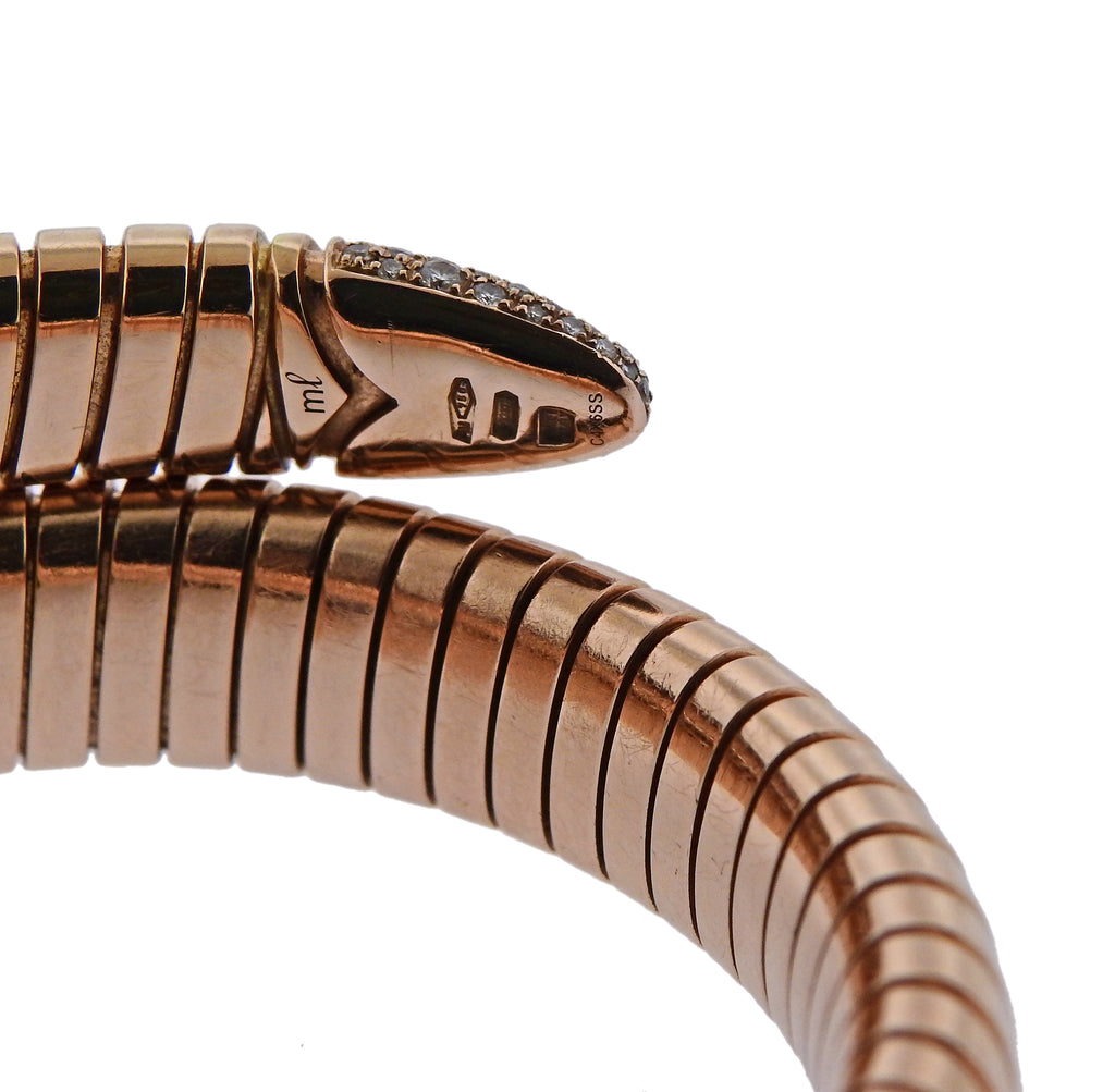 thumbnail image of Bulgari Serpenti Diamond Rose Gold Bracelet