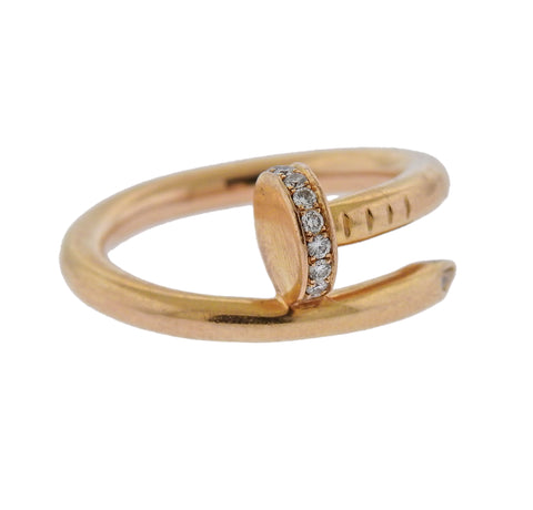 image of Cartier Juste Un Clou Diamond Rose Gold Ring