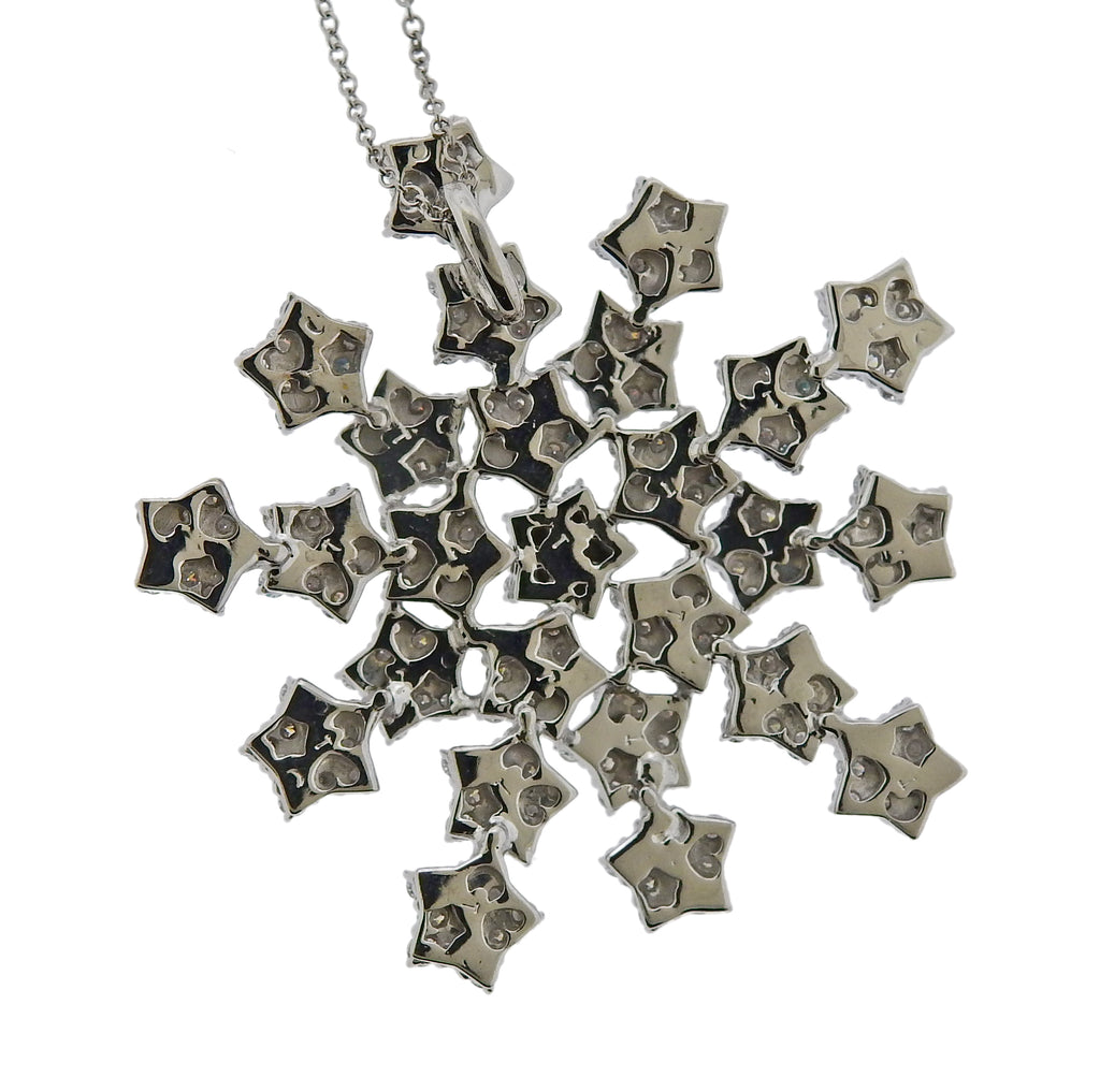 thumbnail image of Pasquale Bruni Gold Snow Flake Diamond Pendant Necklace