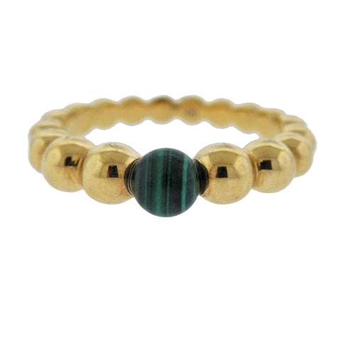 image of Van Cleef & Arpels Perlee Couleurs Variation Malachite Gold Ring