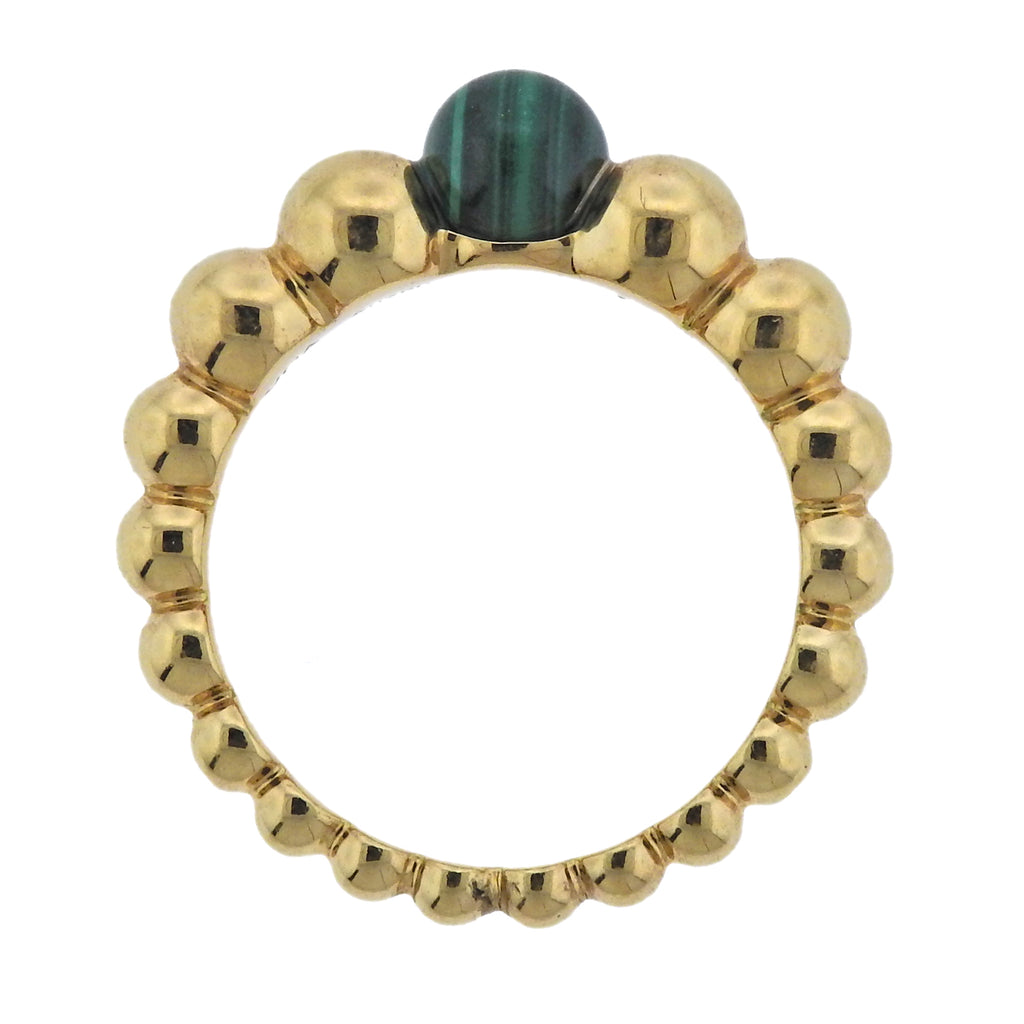 thumbnail image of Van Cleef & Arpels Perlee Couleurs Variation Malachite Gold Ring