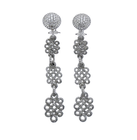 image of Adria De Haume Diamond Gold Day and Night Earrings
