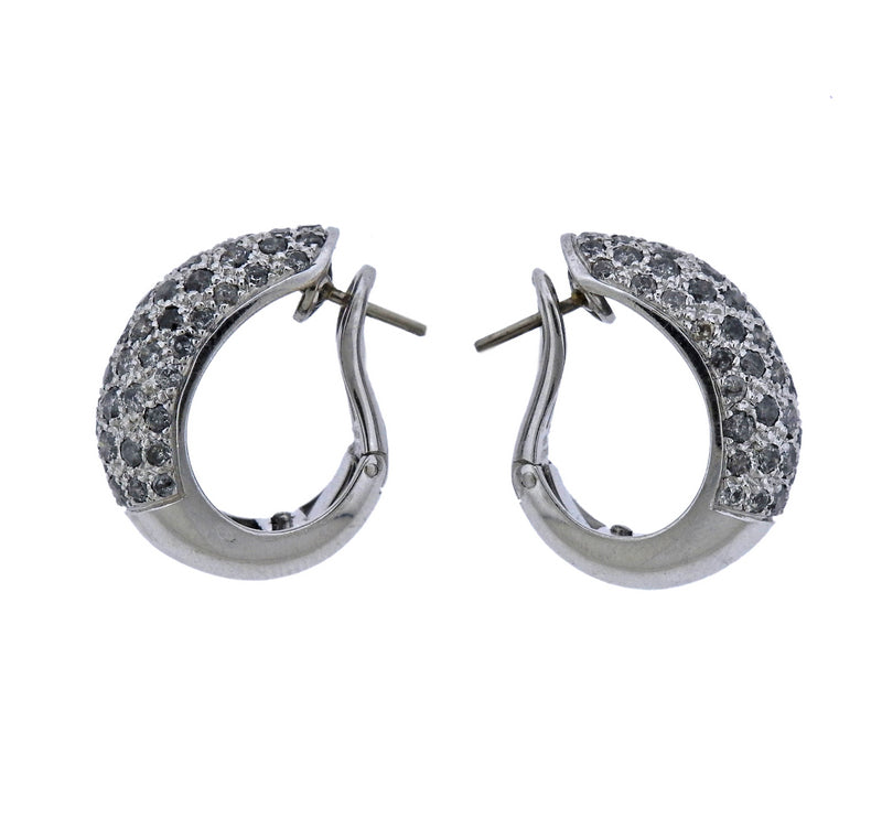 thumbnail image of Cartier Sauvage Diamond Gold Hoop Earrings