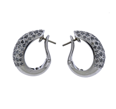 image of Cartier Sauvage Diamond Gold Hoop Earrings