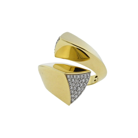 image of Oakgem Diamond Gold Bypass Ring