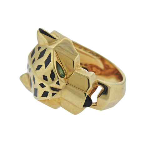 image of Cartier Panthere Emerald Gold Ring
