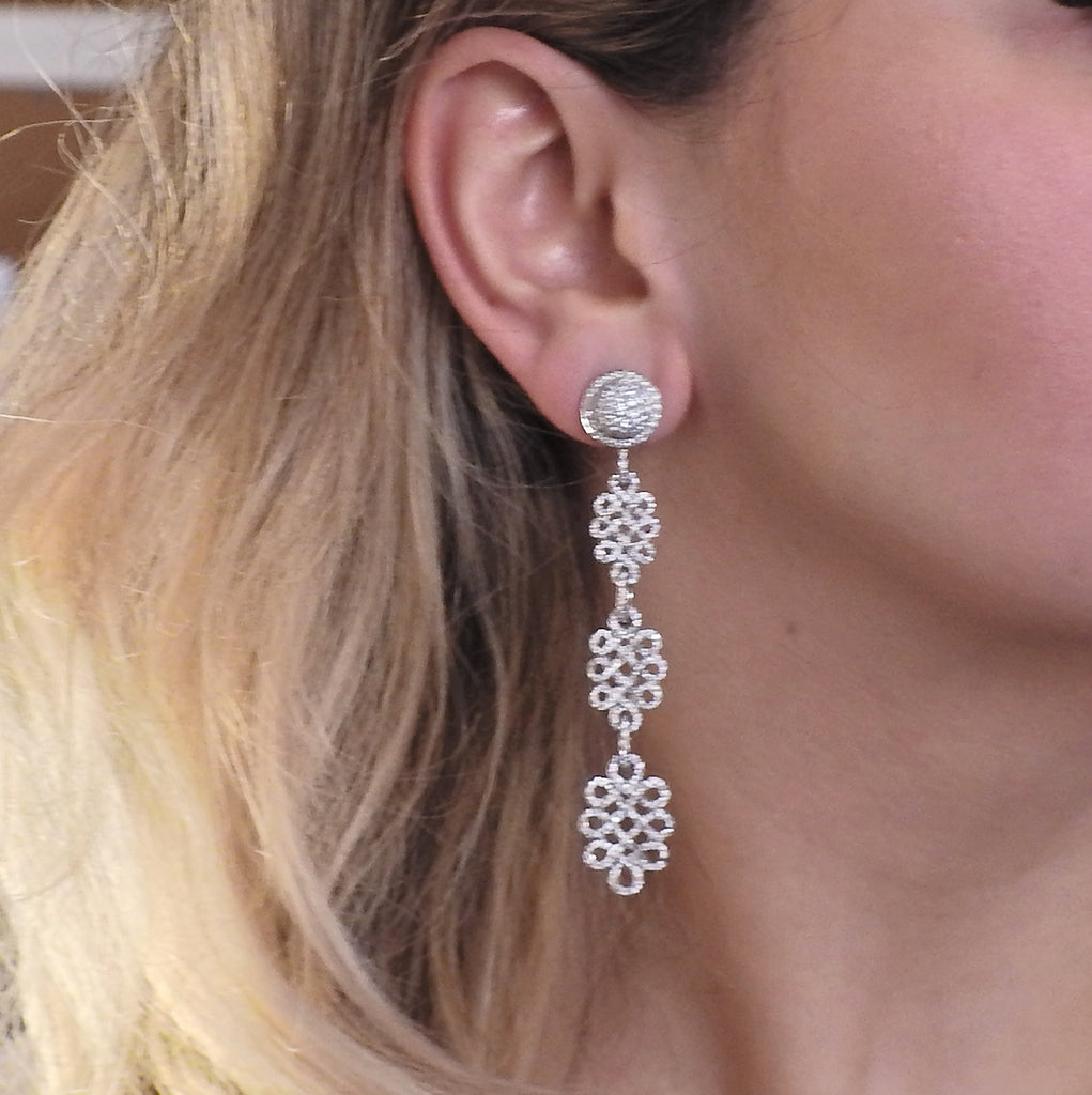 thumbnail image of Adria De Haume Diamond Gold Day and Night Earrings