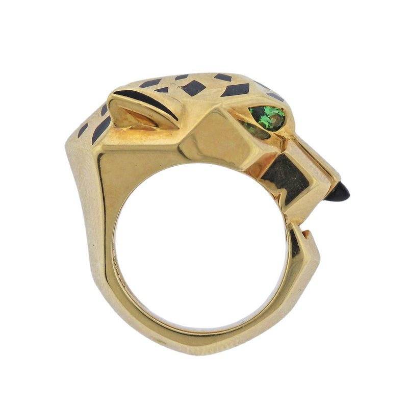 thumbnail image of Cartier Panthere Emerald Gold Ring