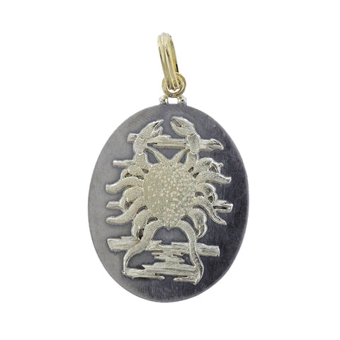 image of Buccellati Large Zodiac Cancer Gold Silver Pendant