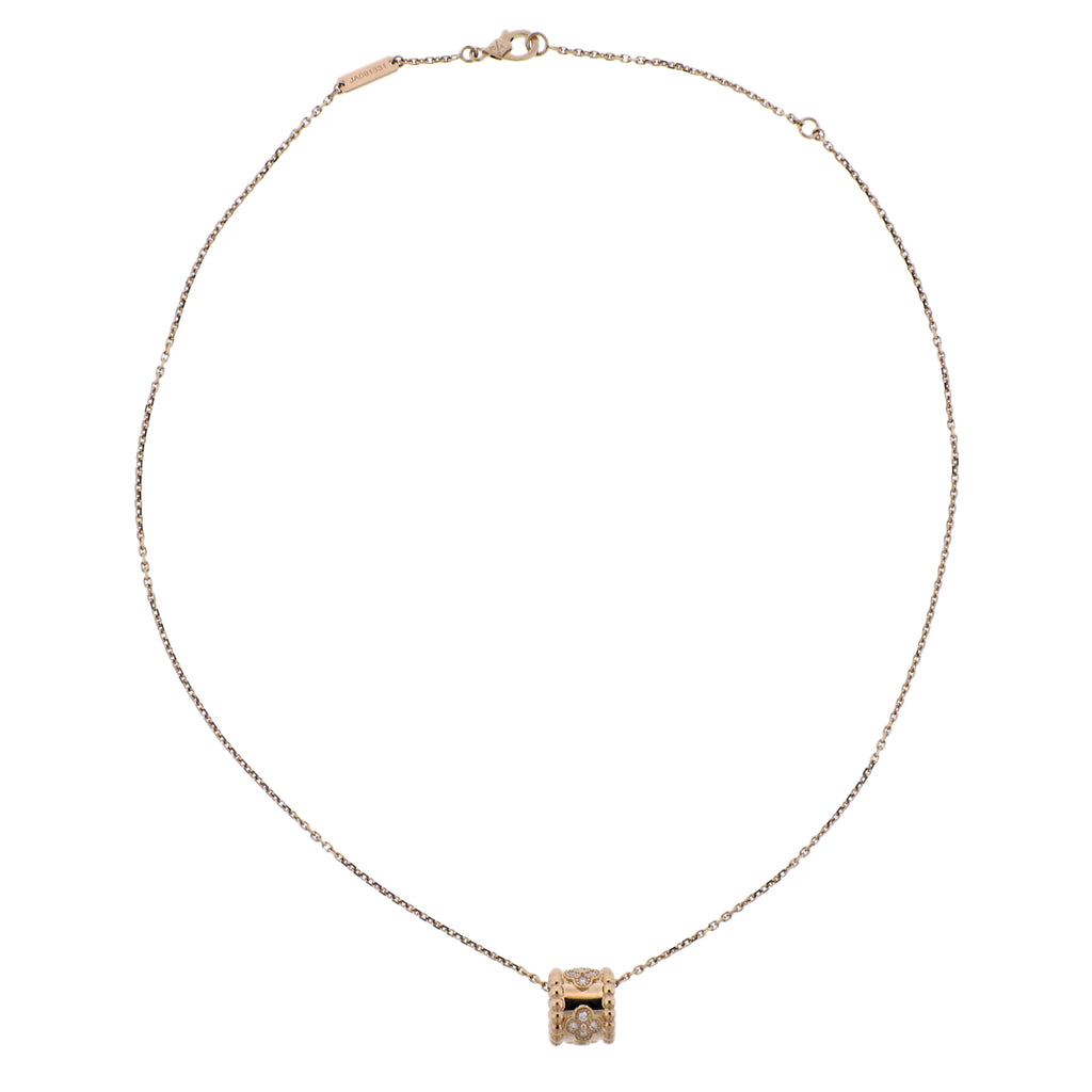 thumbnail image of Van Cleef & Arpels Perlee Clovers Diamond Rose Gold Pendant Necklace