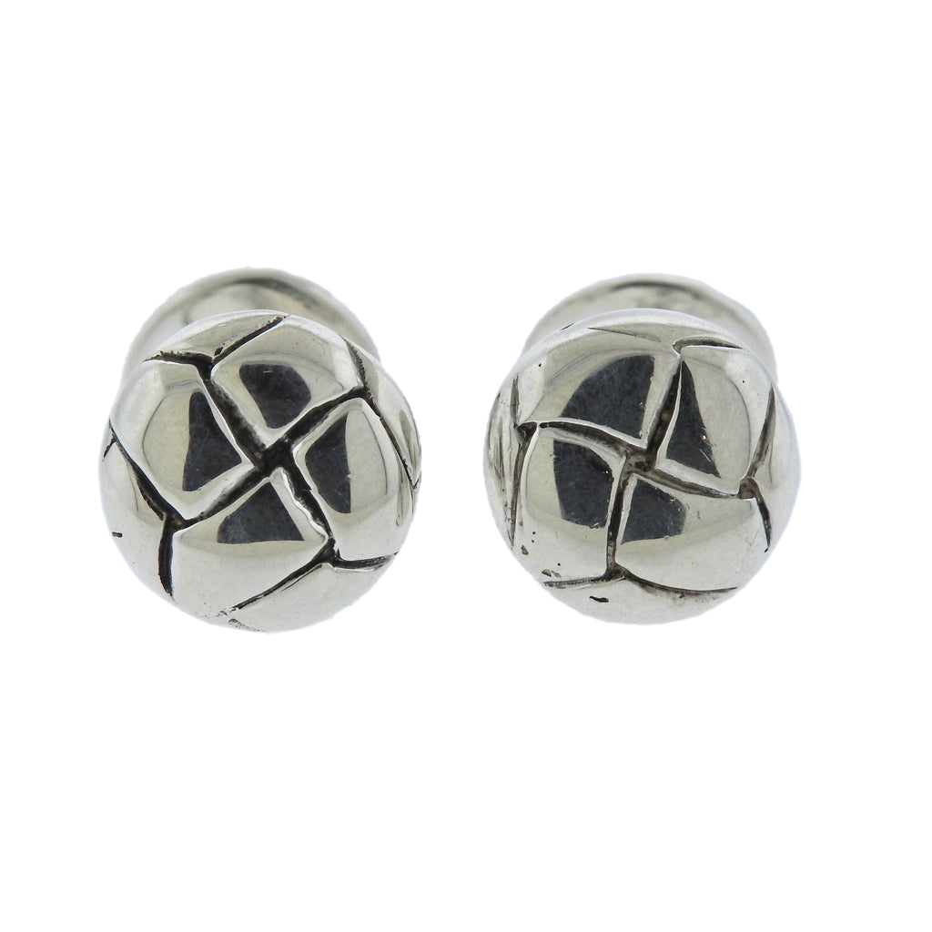 thumbnail image of Angela Cummings 1985 Sterling Silver Woven Cufflinks