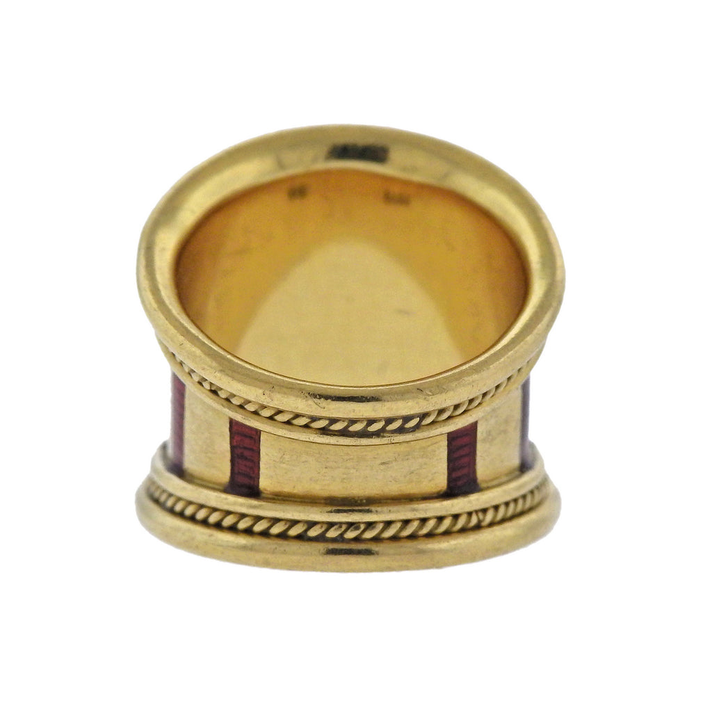 thumbnail image of Elizabeth Gage Enamel Gold Ring