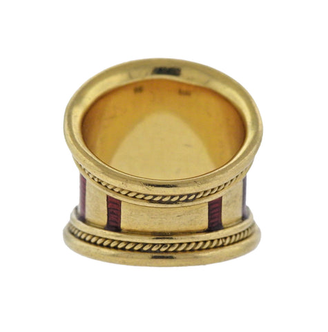 image of Elizabeth Gage Enamel Gold Ring