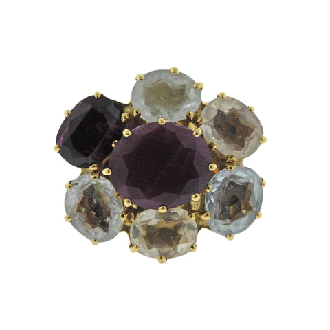 image of H. Stern Diane Von Furstenberg Harmony Multicolor Gemstone Gold Ring