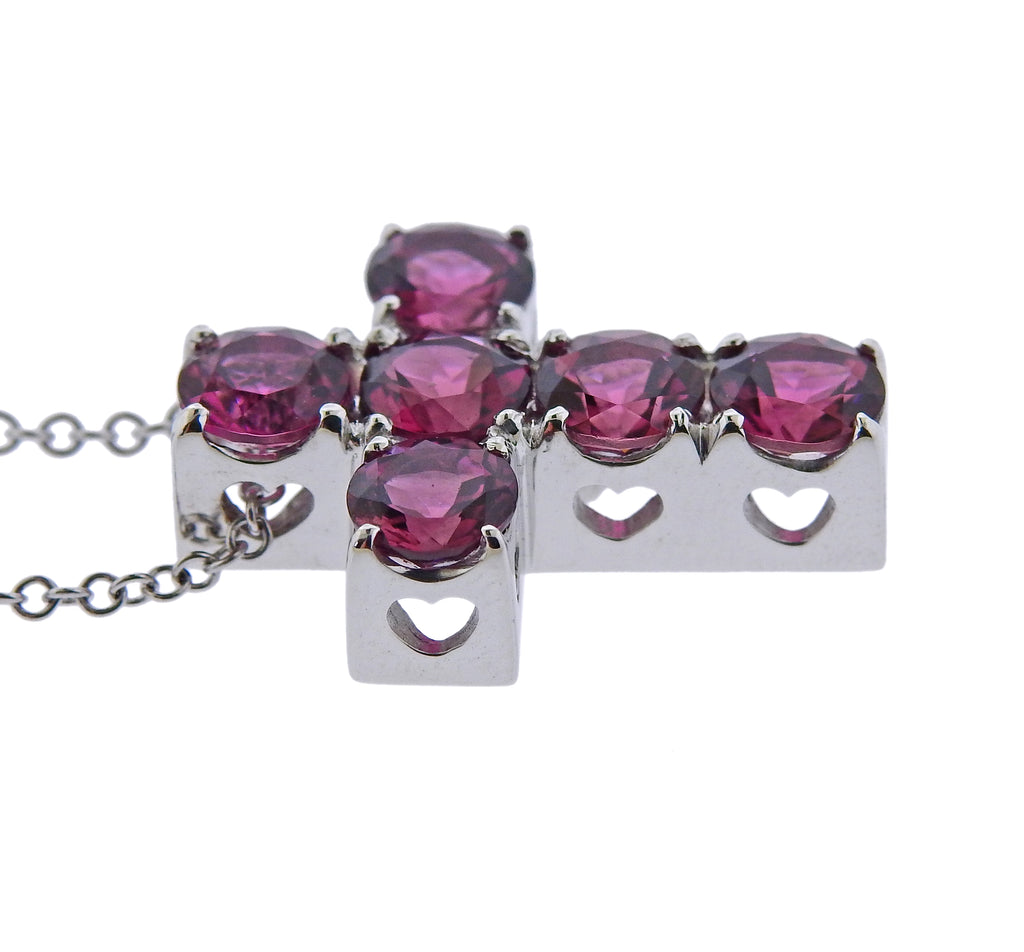 thumbnail image of Pasquale Bruni Pink Tourmaline Cross Necklace
