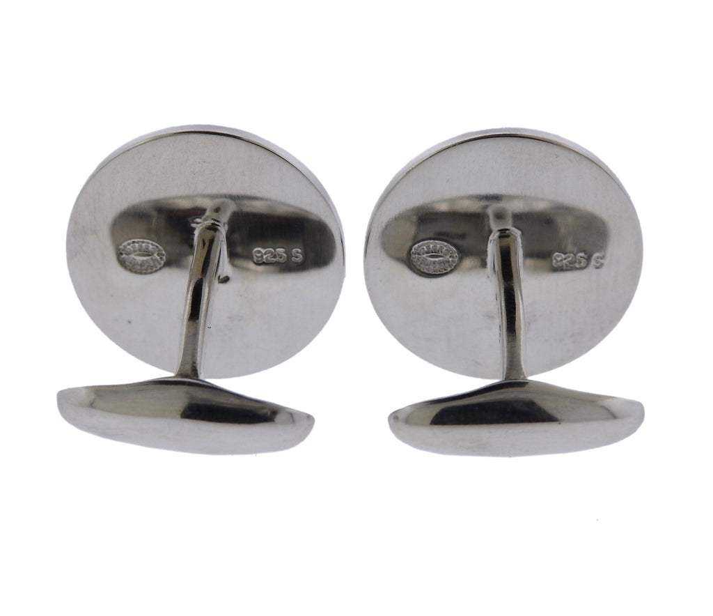 thumbnail image of Georg Jensen Lucky Horseshoe Sterling Silver Cufflinks