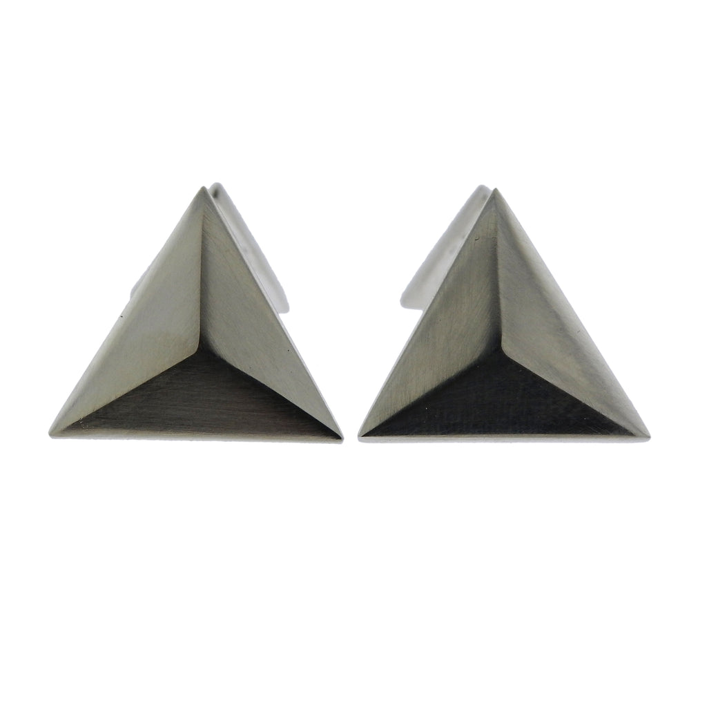 thumbnail image of Georg Jensen Art Deco Sterling Silver Triangle Cufflinks