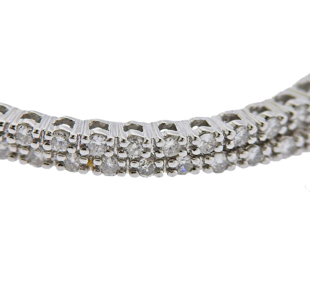 thumbnail image of 0.57ctw Inside Out Diamond Gold Hoop Earrings