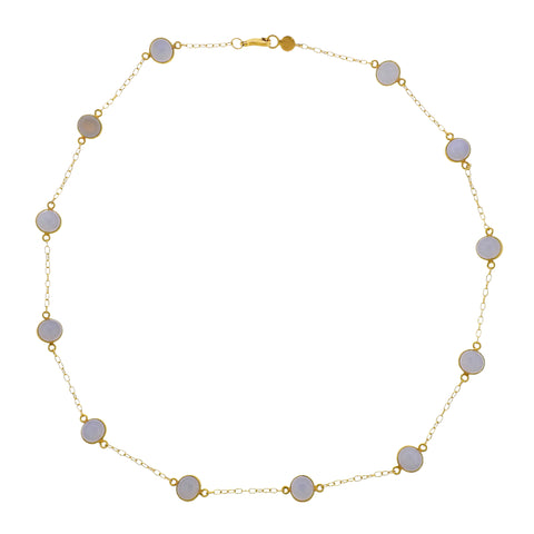 image of Gurhan Demi Balloon Gold Chalcedony Station Necklace
