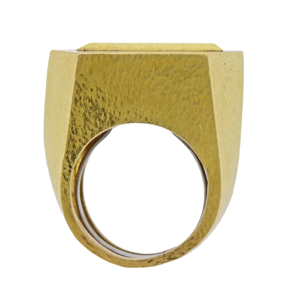 thumbnail image of David Webb Gold Geometric Ring