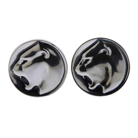 image of Georg Jensen Panther Sterling Silver Cufflinks