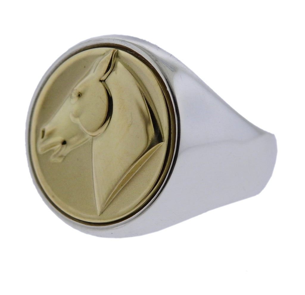 thumbnail image of Georg Jensen Equestrian Sterling Silver Ring