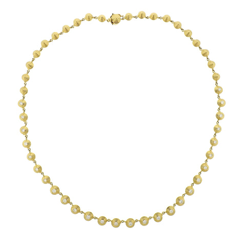 image of New Temple St Clair 18k Gold 2.00ct Diamond Necklace