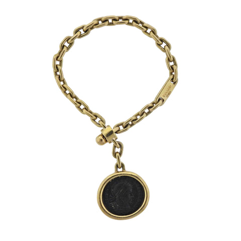 image of Bulgari Monete Roman Empire Ancient Coin Gold Key Chain