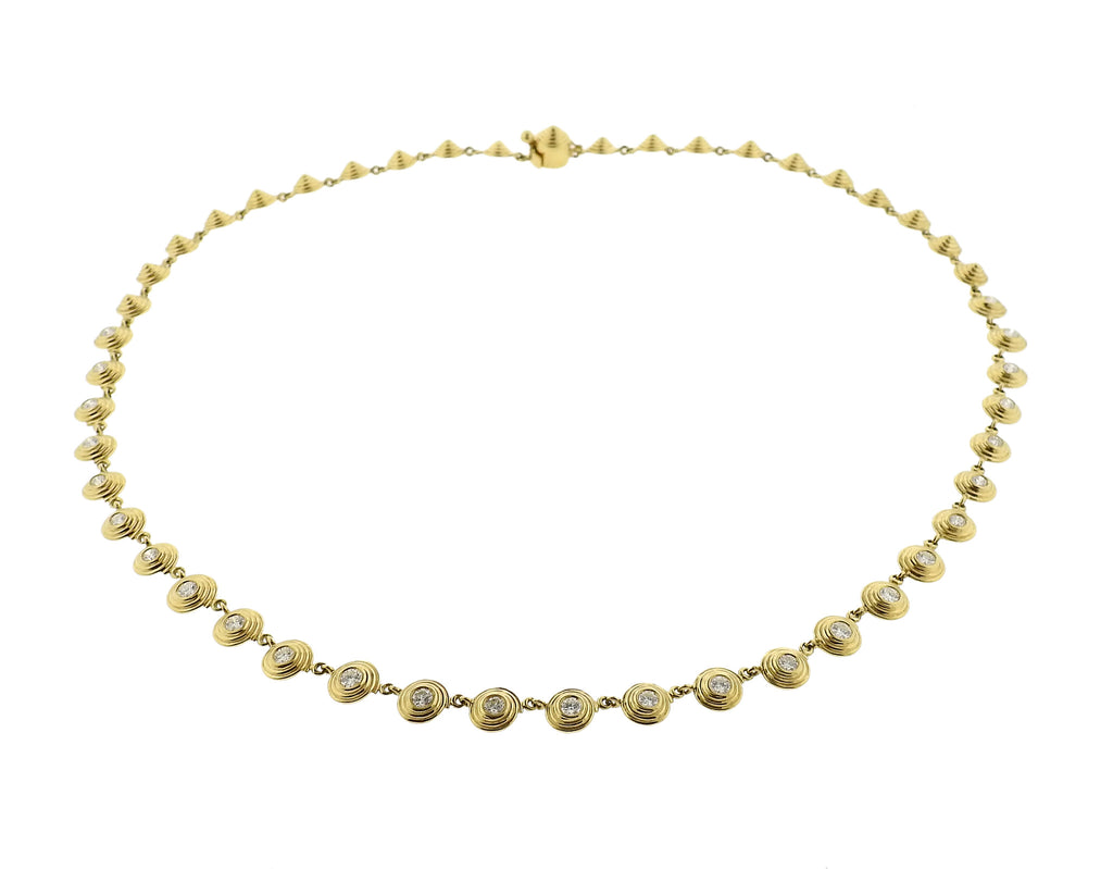 thumbnail image of New Temple St Clair 18k Gold 2.00ct Diamond Necklace