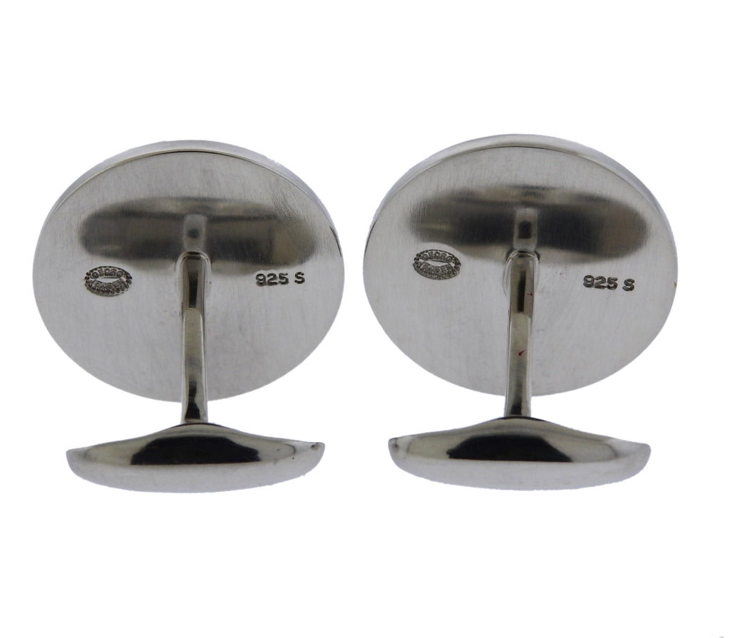 thumbnail image of Georg Jensen Bull Sterling Silver Cufflinks