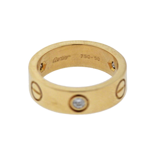 image of Cartier Love Diamond Yellow Gold Band Ring
