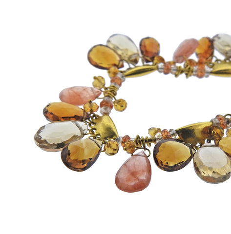 image of New Gurhan 24K Gold Confetti Multi Gemstone Necklace