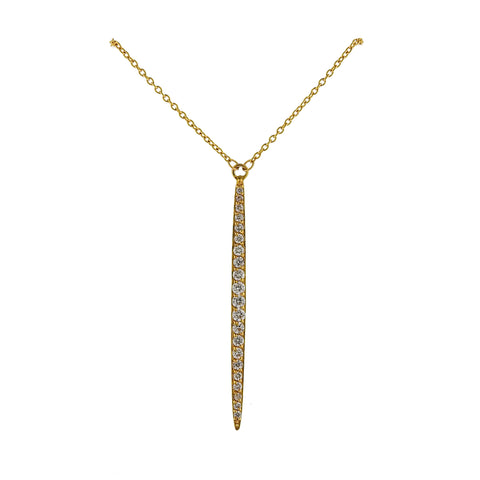 image of Gurhan Whisper Gold Diamond Drop Pendant Necklace