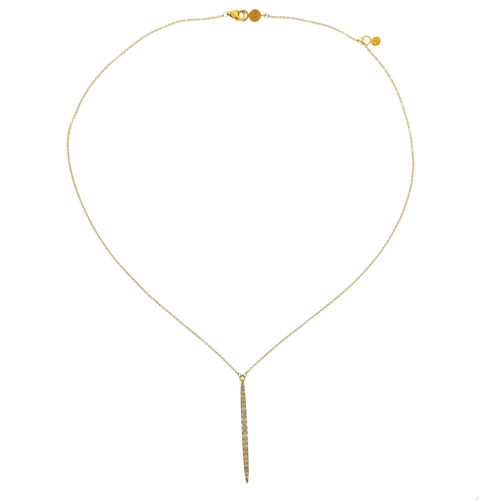 thumbnail image of Gurhan Whisper Gold Diamond Drop Pendant Necklace