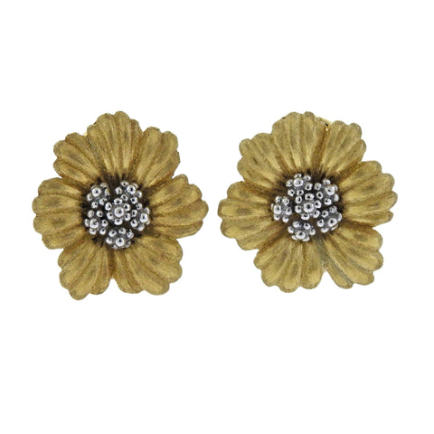 image of Buccellati Blossoms Flower Gold Earrings